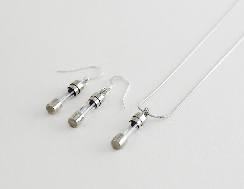 fuse pendant and earrings