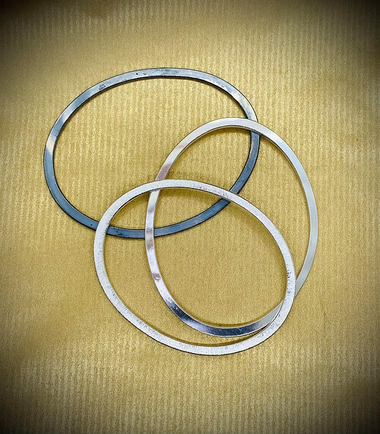 triple flat bangles