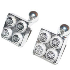 Colette Hazelwood Contemporary jewellery silver lego cuff links