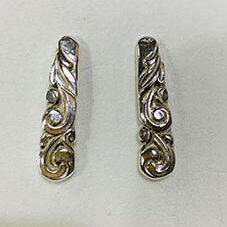 South Seas Silver Cutlery Earrings